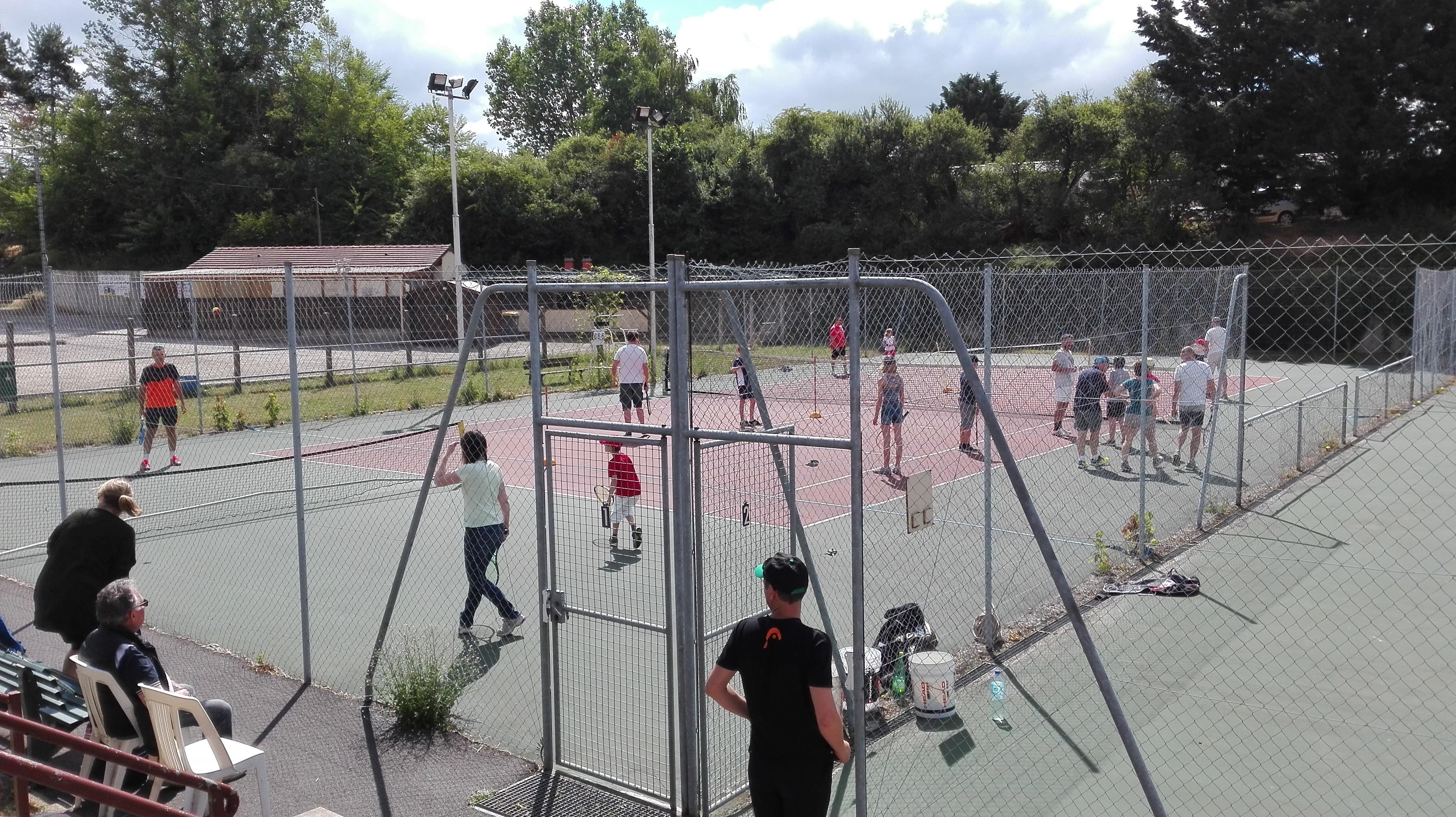 Juin 2017 fêtes de clôture école de tennis